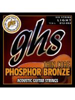Žice Za Akustične Gitare Ghs TCB-L Phospor Bronze Thin Core 12-52