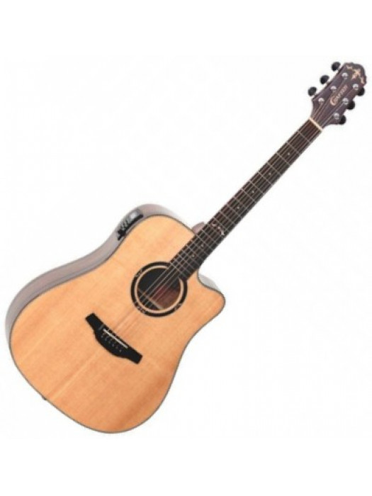 Electro Acoustic Guitar With Bag Crafter HD800CE/N NAT